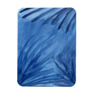 Ímã O azul abstrato sugestivo irradia a pintura da