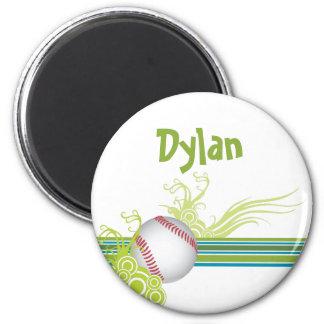 Imã O basebol ostenta o nome personalizado jogo de