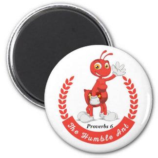 Imã O botão humilde do logotipo da formiga