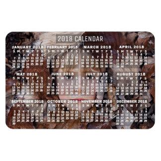 Ímã O branco mensal | do calendário de 2018 anos