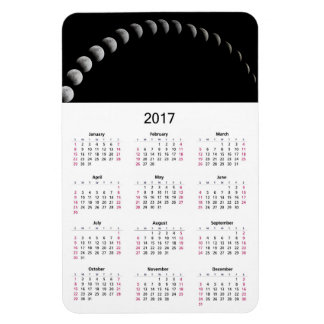 Ímã O calendário 2017 com lua pôr em fase a foto