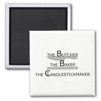 Imã O carniceiro o padeiro o Candlestickmaker