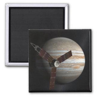Imã O conceito do artista da nave espacial de Juno