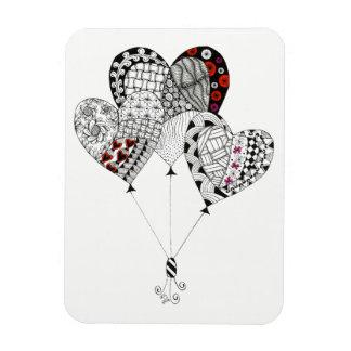 """Ímã O coração Balloons 3"""" x4"""" (você pode personalizar)"""