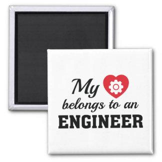 Imã O coração pertence engenheiro