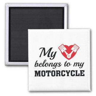 Imã O coração pertence motocicleta