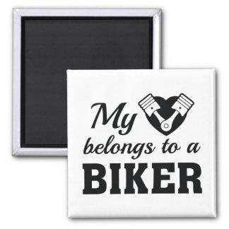 Imã O coração pertence motociclista