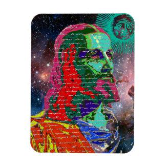 Ímã O cosmos da galáxia do espaço do Jesus Cristo