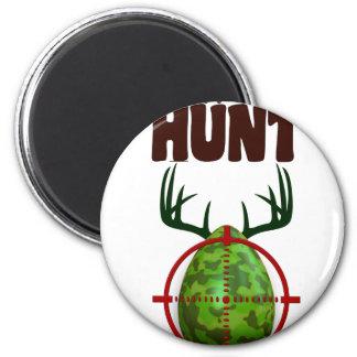 Imã o design engraçado da páscoa, nascer para caçar