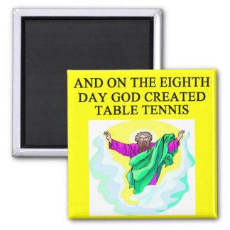 Imã o deus criou o ténis de mesa