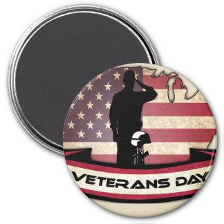 Imã O dia de veteranos original honra em volta do ímã