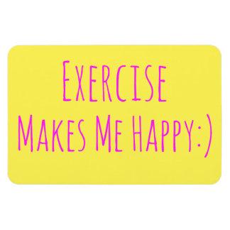 Ímã O exercício faz-me feliz