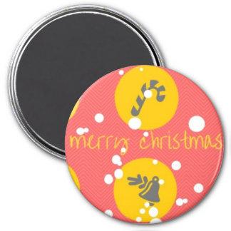 Imã o Feliz Natal original grande, 3 avança em volta