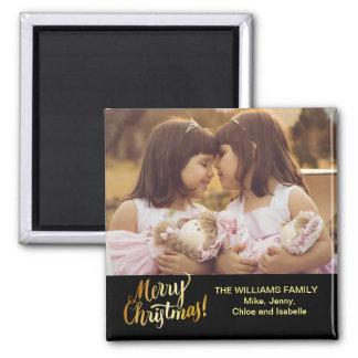 Imã O Feliz Natal personalizou a foto de família