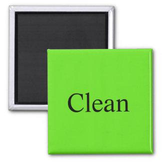 "Imã O ímã da máquina de lavar louça ""limpa """