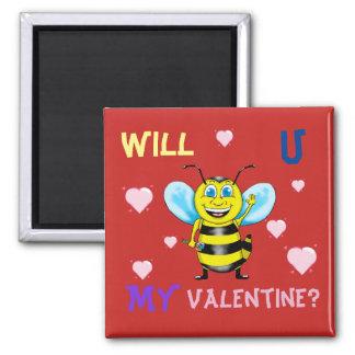 Imã O ímã dos namorados felizes da abelha
