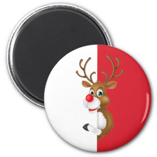 Imã O ímã vermelho do Natal | da rena do nariz