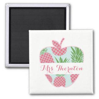 Imã O impressão formal Apple do abacaxi personalizou o