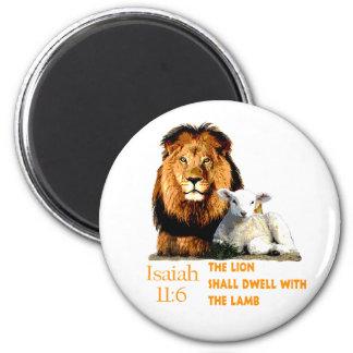 Imã O leão e o 11:6 de Isaiah do cordeiro