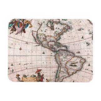 Ímã O mapa de Visscher do mundo novo