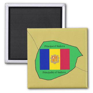 Imã O mapa e a bandeira de Andorra