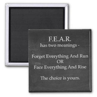 Imã O medo tem o ímã de dois significados