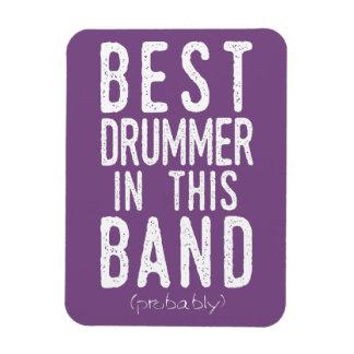 Ímã O melhor baterista (provavelmente) (branco)