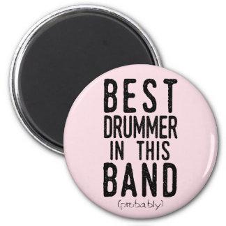 Imã O melhor baterista (provavelmente) (preto)