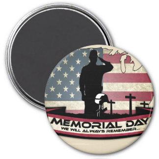 Imã O Memorial Day original honra em volta do ímã