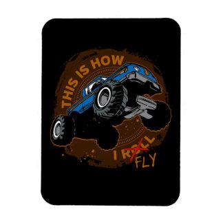 Ímã O monster truck isto é como eu vôo