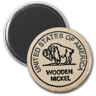 Imã O níquel de madeira do búfalo, adiciona-o
