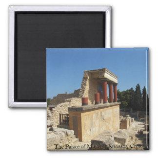 Imã O palácio de Minos em Knossos, Crete, PISCINA