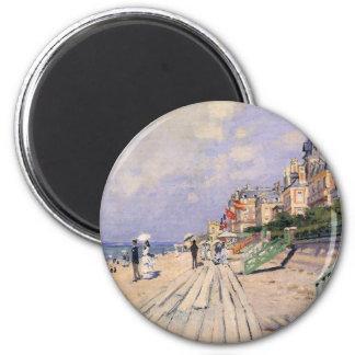 Imã O passeio à beira mar em Trouville Claude Monet