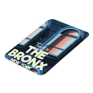 Ímã O poster de viagens da Nova Iorque de Bronx