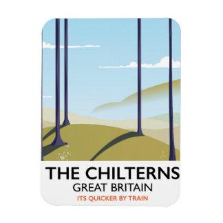 Ímã O poster de viagens de Chilterns Grâ Bretanha