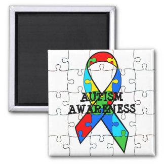 Imã O quebra-cabeça da consciência do autismo remenda