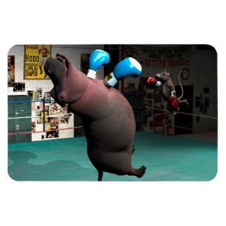 Ímã O rato bate o hipopótamo KO