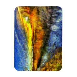 Ímã O rio Van Gogh do por do sol