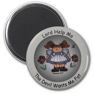 Imã O senhor Ajuda Me, o diabo quer-me ímã gordo
