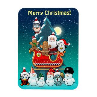 Ímã O trenó do papai noel pela árvore de Natal