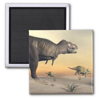 Imã O Triceratops que escapa dos tiranossauros 3D