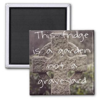 Imã O Vegan 'este refrigerador é um jardim, não um