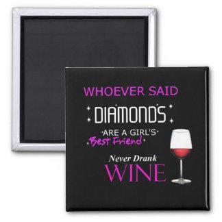Imã O vinho é meu ímã de BFF