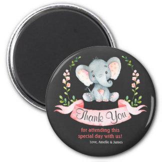 Imã Obrigado da menina do elefante da aguarela do