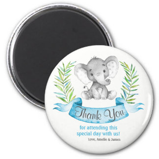Imã Obrigado do menino do elefante da aguarela você