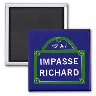Imã Obstáculo Richard, sinal de rua de Paris