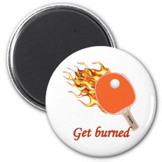 Imã Obtenha o sibilo flamejante queimado Pong