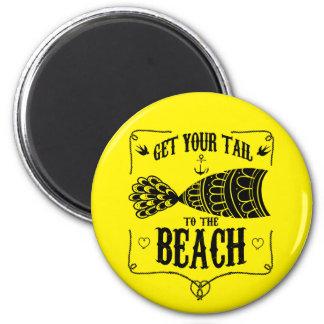 Imã Obtenha sua cauda à praia