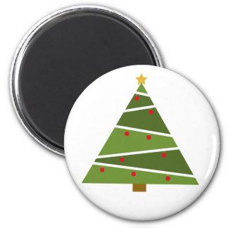 Imã Oh ímã redondo da árvore de Natal