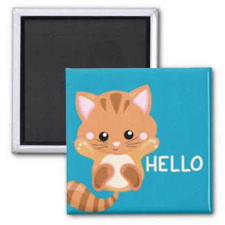 Imã Olá! de ondulação do gatinho